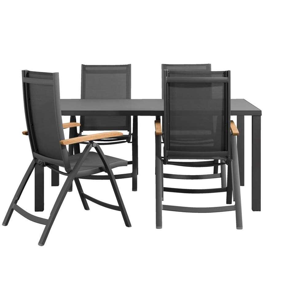 Le Sud salon de jardin Cognac fauteuil réglable Limousin - 5 pièces