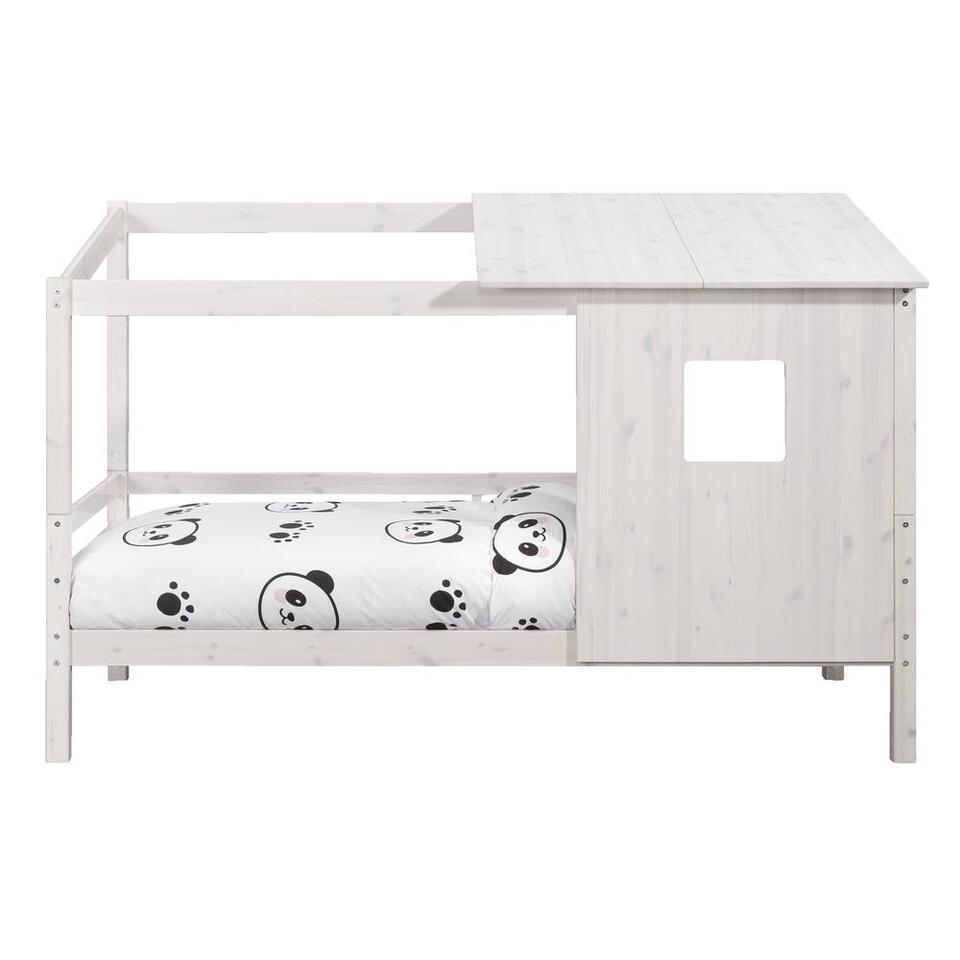 Bed Ties met opzetdak - off-white - 90x200 cm