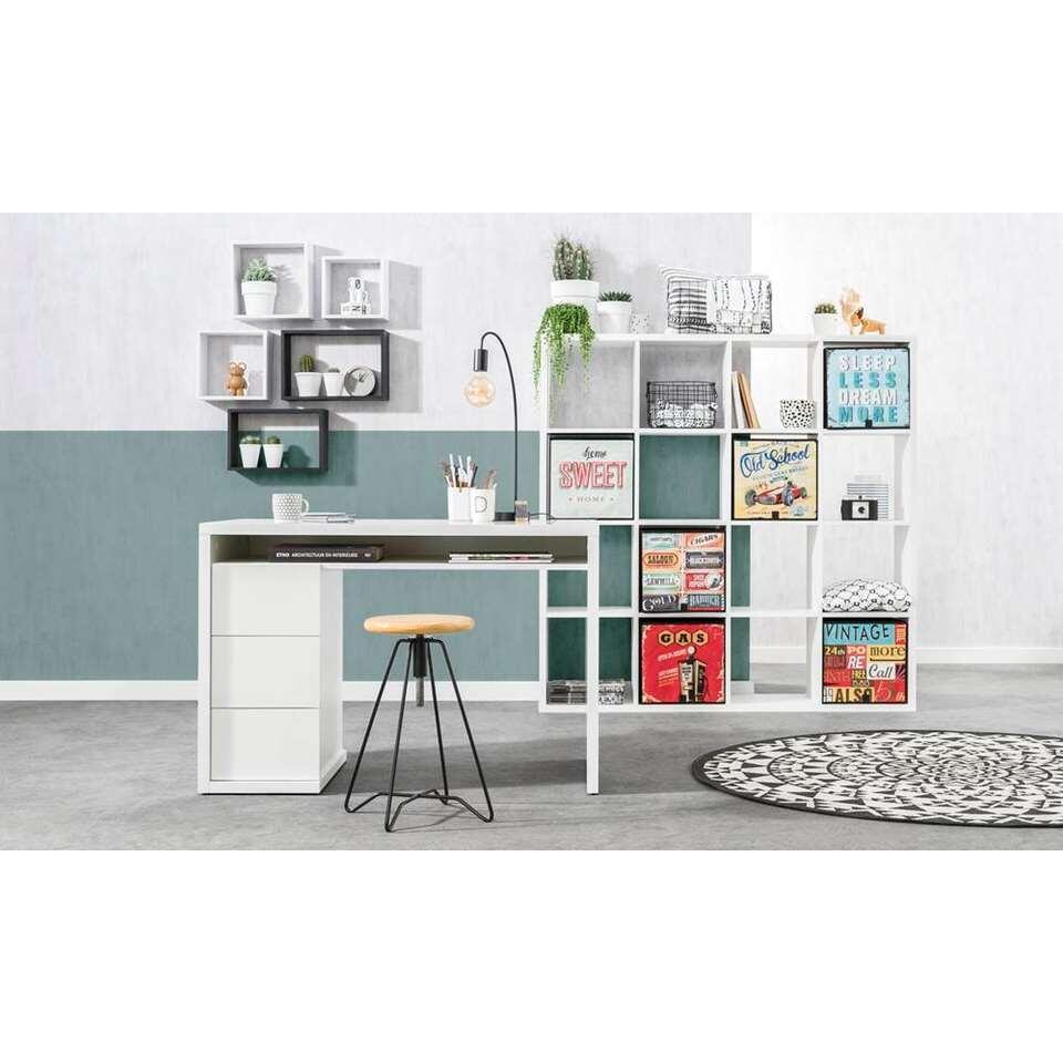 Design Bureau Hoogglans Wit.Bureau Genua Hoogglans Wit 75x110x60 Cm