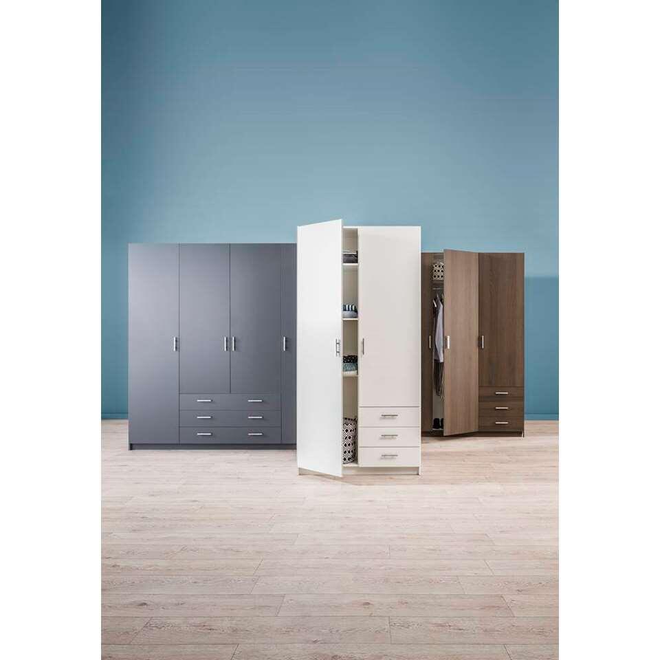 Kledingkast sprint 2 deurs wit 200x98 5x50 cm for Kledingkasten outlet